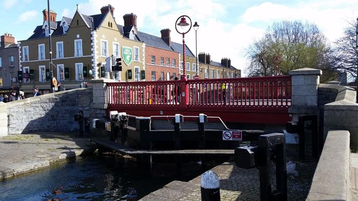The Portobello alongside La Touche - usually called Portobello - Bridge