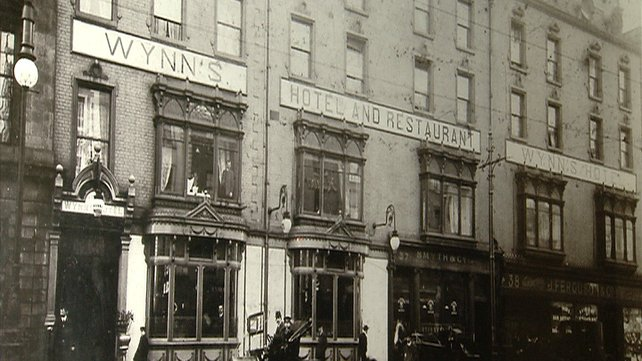 Wynn's Hotel before it was destroyed in 1916