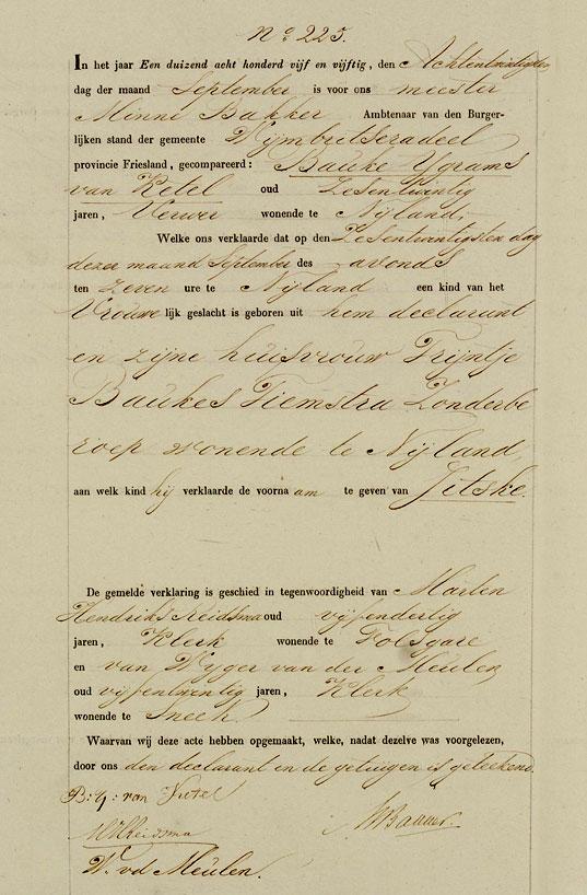 Birth Certificate Jitske van Ketel